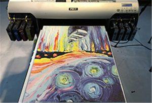 A2 UV 프린터 WER-EH4880UV에서 캔버스 샘플