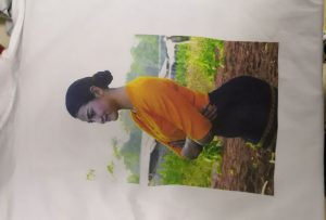 WER-EP6090T 프린터에서 버마 클라이언트 용 T 셔츠 인쇄 견본