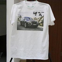 흰색 t- 셔츠 인쇄 샘플에 의해 A3 t- 셔츠 프린터 WER-E2000T 2